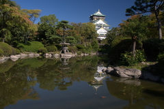 Osaka castle and garden Royalty Free Stock Photos