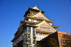 The Osaka Castle, The green castle with golden tiger emblems Stock Image