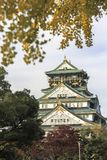 Osaka Castle grounds famous landmark architecture for sightseeing travel tourism attraction in Osaka Japan stock image