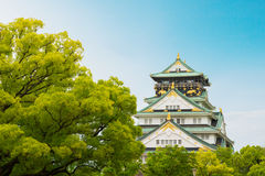 Osaka castle is historic landmark in osaka city japan. Stock Photography