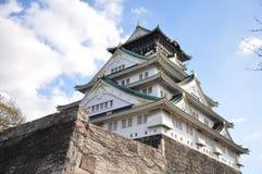 Osaka Castle i Chuo-ku, Osaka, Japan Fotografering för Bildbyråer