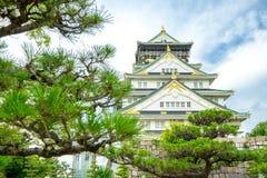 Osaka Castle i Osaka, Japan arkivfoton