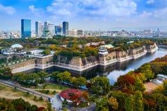 Osaka Castle i Osaka Fotografering för Bildbyråer