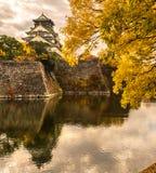 Osaka Castle i Osaka, Japan Arkivbild