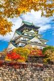Osaka Castle i Osaka, Japan Arkivbilder