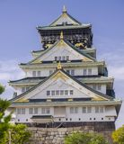 Osaka Castle in Japan. The Osaka Castle is an important castle located in the city of Osaka, which played a key role during the process of unification of Japan stock photo
