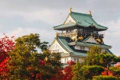 """Osaka Castle ist eine japanische Schloss Herbstsaison in ChÅ """"Å- - ku, OS Stockbilder"""