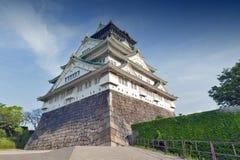 Osaka Castle, Japón la mayoría del hito histórico famoso en Osaka City, Fotografía de archivo