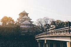 Osaka castle in japan. Osaka castle in the japan Stock Photo