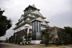 Osaka Castle in Japan. The Osaka Castle in Japan Royalty Free Stock Photos