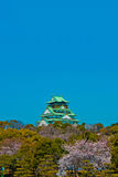 Osaka Castle Japan. Osaka Castle during spring in Osaka Japan royalty free stock photo