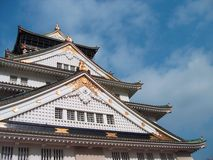 Osaka Castle ? Japan. The castle was funded on the site of Ishiyama Hongan-ji by the great medieval warlord Toyotomi Hideyoshi as a symbol of his achievement Royalty Free Stock Photography