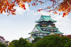 Osaka castle, Japan. Autumn season at Osaka castle, Osaka Japan Royalty Free Stock Images