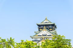Osaka castle in Japan. Beautiful Architecture Osaka castle in Japan Stock Photography