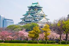 Osaka Castle, Japan. Cherry blossom in Osaka castle, Osaka, Japan Stock Photos