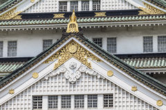 Osaka Castle in Japan, close-up details. Royalty Free Stock Images