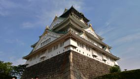 Osaka castle in Japan stock photography