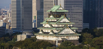 Osaka castle. Japan. With detail Stock Photography