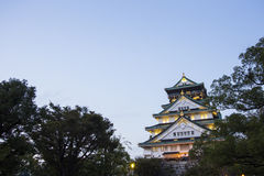 Osaka castle. Japan Royalty Free Stock Photography