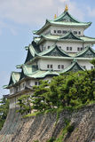 Osaka castle Japan. Osaka castle from the distance Royalty Free Stock Photo