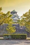 Osaka Castle Japan mest berömd historisk gränsmärke i Osaka City, Japan royaltyfria foton