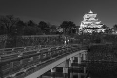 Osaka Castle in Japan. At night Royalty Free Stock Image