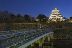 Osaka Castle in Japan. At night Royalty Free Stock Photography