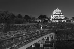 Osaka Castle in Japan. Night scene of Osaka Castle in Japan Royalty Free Stock Photo