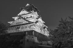 Osaka castle in Japan. Night scene of Osaka castle in Japan Stock Images