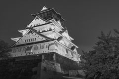 Osaka castle in Japan. Night scene of Osaka castle in Japan Royalty Free Stock Photography