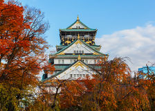 Osaka castle in Japan Royalty Free Stock Images