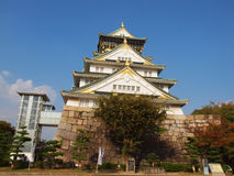 Osaka Castle, Japan. This castle is a symbol of Osaka and has thirteen structures which have been designated as Important Cultural Assets by the Japanese Stock Photo