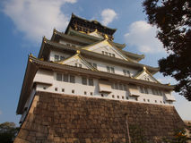 Osaka Castle, Japan. This castle is a symbol of Osaka and has thirteen structures which have been designated as Important Cultural Assets by the Japanese Royalty Free Stock Photo