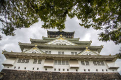 Osaka castle in Japan. View at the Osaka castle in Japan Royalty Free Stock Photos