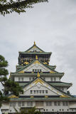 Osaka castle in Japan. View at the Osaka castle in Japan Royalty Free Stock Photography