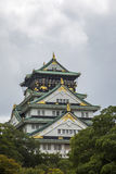 Osaka castle in Japan. View at the Osaka castle in Japan Stock Image