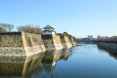 Osaka castle, Japan. View of Osaka castle, Japan before spring Royalty Free Stock Photos