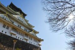 Osaka castle, Japan. View of Osaka castle, Japan before spring Stock Images