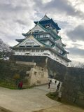 Osaka Castle - Japan. Winter in Japan Royalty Free Stock Photography