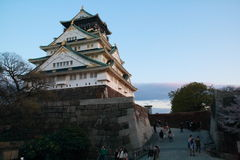 Osaka Castle. Is a Japanese castle in Chūō-ku, Osaka, Japan. The castle is one of Japans most famous, and played a major role in the unification of Japan Royalty Free Stock Photography