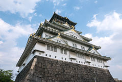 Osaka Castle. Osaka-jo Osaka Castle is one of Japan`s most famous castle which is an important mark in unification of Japan in 16th century Stock Image