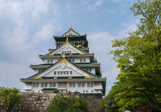 Osaka Castle. Osaka-jo Osaka Castle is one of Japan`s most famous castle which is an important mark in unification of Japan in 16th century Stock Photos