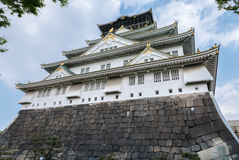 Osaka Castle. Osaka-jo Osaka Castle is one of Japan`s most famous castle which is an important mark in unification of Japan in 16th century Royalty Free Stock Photo