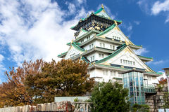 Osaka Castle in Kansai , Japan Royalty Free Stock Photo
