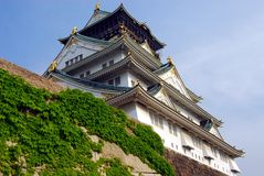 Osaka castle keep Royalty Free Stock Photos