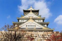 Osaka Castle is landmark city Royalty Free Stock Image