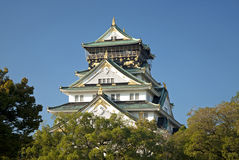 Osaka castle landmark in japan Royalty Free Stock Photo