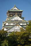 Osaka castle landmark in japan Royalty Free Stock Photos