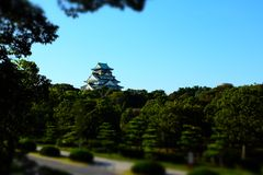 Osaka castle Stock Photos