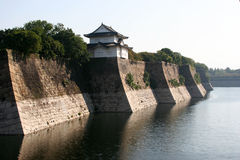 Osaka castle moat Royalty Free Stock Photo